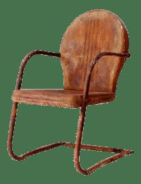 Mid-Century Shell Back Lawn Chair | Chairish