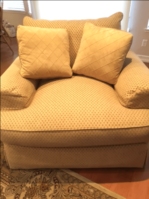 DoubleWide Sofa Style Arm Chair and Ottoman  Chairish