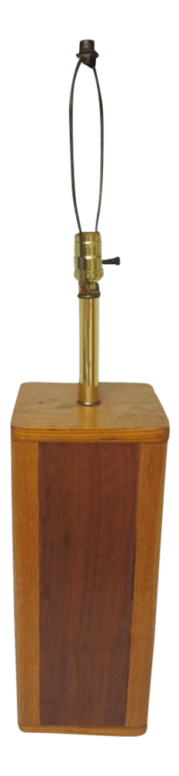 Mid Century Modern Solid Wood Table Lamp | Chairish
