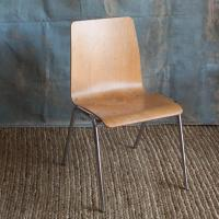 Steam Bent Mid Century Plywood Dining Chairs - S/6 | Chairish