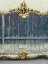 Antique Italian Baroque Gold Gilded Mirror | Chairish