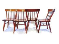 Mid-Century Spindle Back Dining Chairs - Set of 6 | Chairish