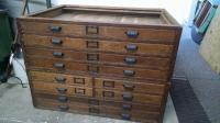Antique Map/Blueprint Cabinet