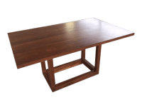 Custom Walnut Kitchen Table | Chairish