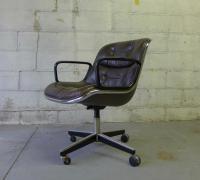 Mid-Century Modern Leather Knoll Office Chair | Chairish