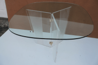 Mid-Century Modern Lucite Dining Table | Chairish