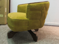 Mid-Century Danish Modern Swivel Club Chair | Chairish