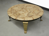 Arturo Pani for Muller Brass & Onyx Coffee Table | Chairish