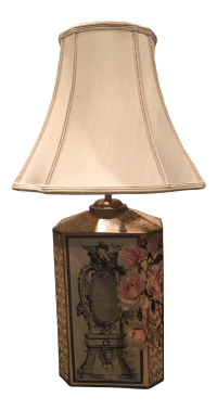 Floral Decoupage Table Lamp
