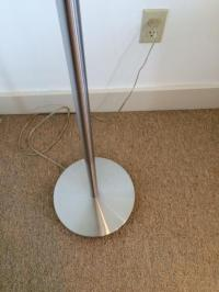 Mid-Century Stainless Steel Floor Lamp | Chairish