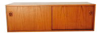 Mid-Century Danish Teak Modular Cabinet Sliding Doors Unit ...