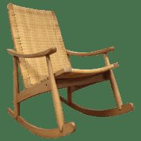 Mid-Century Cane Back Rocking Chair | Chairish