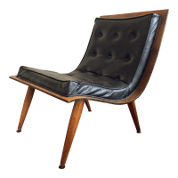 Mid-Century Carter Brothers Scoop Chair | Chairish
