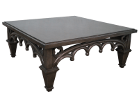 Gothic-Style Painted Coffee Table | Chairish