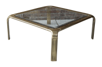Mastercraft Brass & Glass Coffee Table | Chairish
