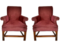 Baker Living Room Chairs - a Pair | Chairish
