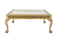Mastercraft Vintage Greek Key Brass Coffee Table | Chairish