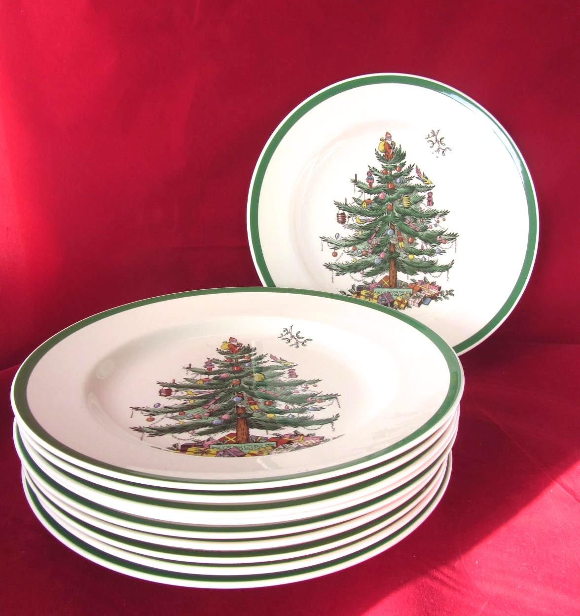 Spode Christmas Tree Dinner Plates
