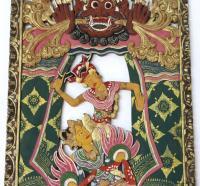 Balinese Hand Carved Wall Art | Chairish