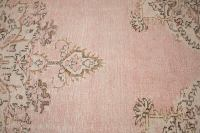 "Blush Pink Turkish Overdyed Rug - 6'6"" x 10'3"" 