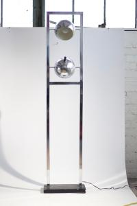 Modern Chrome Floor Lamp | Chairish