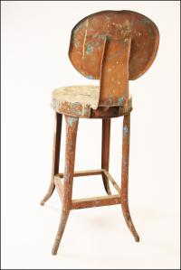 Vintage Industrial Metal Bar Stool | Chairish