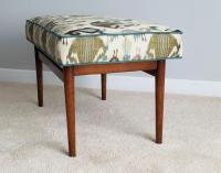 Mid-Century Upholstered Bench | Chairish