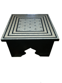 Moroccan Mother of Pearl Coffee Table | Chairish