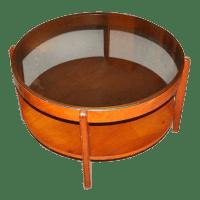 1960's Mid-Century Wood & Glass Coffee Table | Chairish