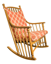 Wooden Spindle Rocking Chair | Chairish