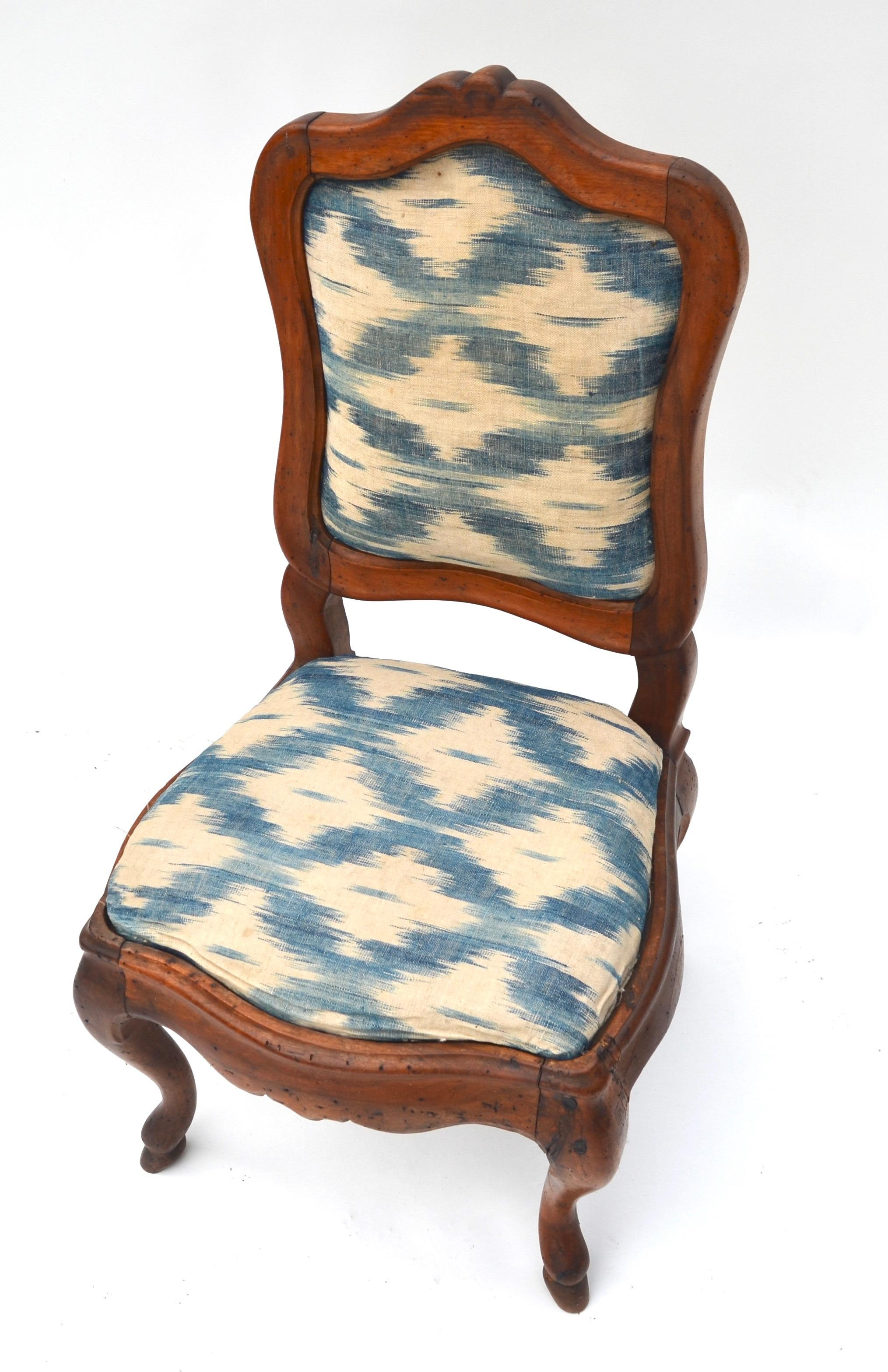 Antique Wood Upholstered Slipper Chair  Chairish