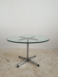 Round Glass Cocktail Table | Chairish