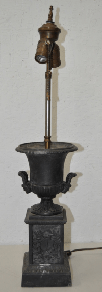 Victorian Cast Iron Urn Table Lamp | Chairish