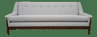 Mid Century Style Dove Gray Sofa | Chairish