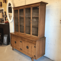 Thomasville Walnut Asian Style China Cabinet Hutch ...