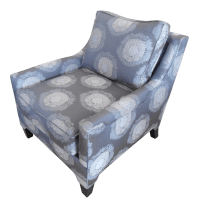Gray Patterned Accent Chair | Chairish