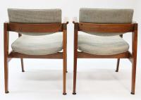 Gunlocke Mid-Century Modern Walnut Dining Chairs- Set of 6 ...