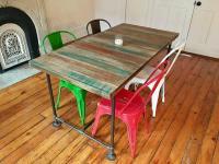 Tolix Replica Metal Dining Chairs - Set of 4 | Chairish