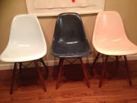 Mid-Century Modern Eames Fiberglass Shell Chair   Chairish