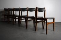 Danish Modern Mid-Century Dining Chairs - Set of 6 | Chairish