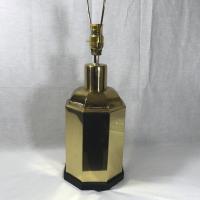 Asian Brass Canister Lamp   Chairish