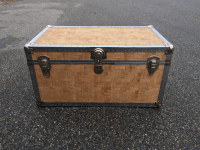 Lightly Cerused Rattan Trunk Coffee Table | Chairish