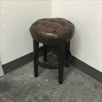 Restoration Hardware Bennett Round Stool | Chairish