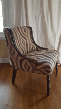 Vintage Gray & Silver Accent Chair | Chairish