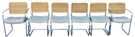 Mid-Century Chrome & Wicker Dining Room Chairs - Set of 6 ...