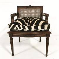 French Louis XVI Style Boudoir Chair | Chairish