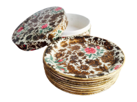 Round Colorful Plates - Set of 8 | Chairish