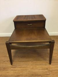 Mid-Century Modern Two-Tier Side Table | Chairish