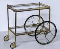 French Modern Rolling Bar Cart | Chairish