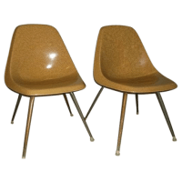 Vintage Borg-Warner Fiberglass Shell Chairs - Pair | Chairish